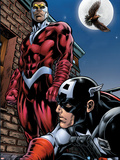 Captain America And The Falcon No.13 Cover: Captain America and Falcon Plastic Sign by Dan Jurgens