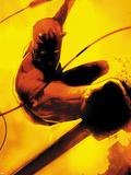 Daredevil: Reborn No.2 Cover: Daredevil Jumping Plastic Sign by  Jock