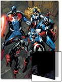 Captain America Corps No.2: U.S. Agent, Captain America, American Dream, and Commander A Prints by Phil Briones