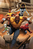 Mighty Avengers 1 Cover: Cage, Like, White Tiger, Spider-Man, Power Man, Spectrum Wall Decal by Greg Land