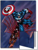 Captain America & The Falcon No.4 Cover: Captain America and Falcon Posters by Bart Sears