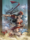 Elektra No.32 Cover: Elektra Wall Decal by Tom Fleming