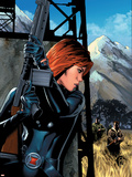 Black Widow No.5 Cover: Black Widow Wall Decal by Greg Land