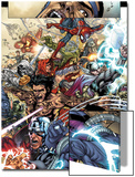 Avengers: The Initiative No.19 Group: Spider-Man, Crusader, Captain America, Wolverine and Thor Prints by Harvey Tolibao