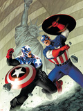 Captain America No.40 Cover: Captain America Plastic Sign by Steve Epting