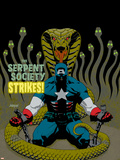 Captain America V4, No.31 Cover: Captain America and Serpent Society Crouching Plastic Sign by Dave Johnson