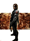 Captain America No.11 Cover: Winter Soldier Plastic Sign by Steve Epting
