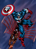Captain America & The Falcon No.4 Cover: Captain America and Falcon Plastic Sign by Bart Sears