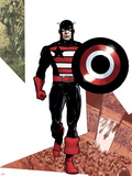 Captain America Corps No.3 Cover: Captain America Walking with his Shield Wall Decal by Phil Jimenez