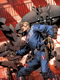 Steve Rogers: Super-Soldier No.3 Cover: Captain America Standing Wall Decal by Carlos Pacheco