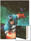 Captain America & The Korvac Saga No.1 Cover: Captain America Running Wood Print by Craig Rousseau