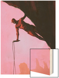 Daredevil: Reborn No.3 Cover: Daredevil Climbing Wood Print by  Jock