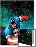 Captain America & The Korvac Saga No.1 Cover: Captain America Running Prints by Craig Rousseau