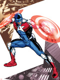 Captain America Corps No.5 Cover: Commander A Croching and Posing Wall Decal by Phil Jimenez
