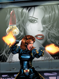 Black Widow No.3 Cover: Black Widow Plastic Sign by Greg Land