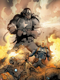Steve Rogers: Super-Soldier No.4 Cover: Captain America Shooting Plastic Sign by Carlos Pacheco