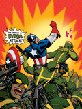 Captain America V4, No.29 Cover: Captain America Plastic Sign by Dave Johnson