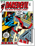 Daredevil No.100 Cover: Daredevil and Black Widow Poster by Gene Colan