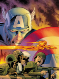 Captain America: Forever Allies No.1 Cover: Captain America and Human Torch Plastic Sign by Lee Weeks