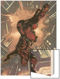 Daredevil 2099 No.1 Cover: Daredevil Crouching Wood Print by Pat Lee