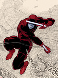 Daredevil No.1 Cover: Daredevl Jumping amidst Sounds Plastic Sign by Paolo Rivera