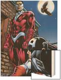 Captain America And The Falcon No.13 Cover: Captain America and Falcon Wood Print by Dan Jurgens