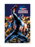 Captain America Reborn No.1 Cover: Captain America Plastic Sign by Bryan Hitch