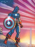 Captain America Theater Of War: America First! No.1 Cover: Captain America Plastic Sign by Howard Chaykin