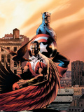 Captain America & The Falcon No.5 Cover: Captain America and Falcon Znaki plastikowe autor Steve Epting