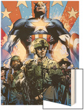 Captain America Theater of War: Ghosts of My Country No.1 Cover: Captain America Wood Print by Butch Guice