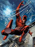 Daredevil No.65 Cover: Daredevil Plastic Sign by Greg Land