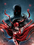 Shadowland: Elektra No.1 Cover: Elektra Running Plastic Sign by Sana Takeda