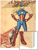 Captain America Corps No.4: American Dream Standing Wood Print by Phil Jimenez