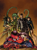 New Avengers No.19 Cover: Spider-Man, Norman Osborn, Viper, Superia Plastic Sign by Mike Deodato