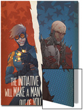 Avengers: The Initiative No.29 Cover: Speedball and Penance Prints by Matteo De Longis
