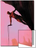 Daredevil: Reborn No.3 Cover: Daredevil Climbing Prints by  Jock