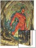 Daredevil No.100 Cover: Daredevil Wood Print by Michael Turner