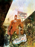 Daredevil: Redemption No.1 Cover: Daredevil Plastic Sign by Bill Sienkiewicz