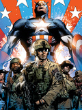 Captain America Theater of War: Ghosts of My Country No.1 Cover: Captain America Plastic Sign by Butch Guice