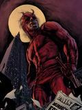 Daredevil By Ed Brubaker Saga Cover: Daredevil Plastic Sign