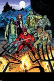 Daredevil 32 Cover: Daredevil, Satana, the Living Mummy, Frankensteins Monster, Werewolf by Night Wall Decal by Chris Samnee