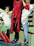Daredevil: Reborn No.4: Matt Murdock, Froggy Nelson Plastic Sign by Davide Gianfelice