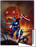 Captain America No.8 Cover: Captain America, Bucky and Red Skull Swimming Posters by Joe Jusko