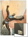 Captain America And The Falcon No.7 Cover: Falcon Wood Print by Joe Bennett