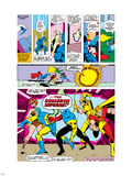 Avengers No.141 Group: Dr. Spectrum, Whizzer, Hyperion, Golden Archer and Squadron Supreme Plastic Sign by George Perez