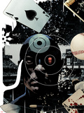 Bullseye: Perfect Game No.1 Cover: Bullseye Posing Plastic Sign by Tim Bradstreet