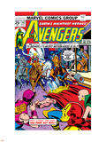 Avengers No.142 Cover: Thor, Hawkeye, Iron Man, Rawhide Kid, Kid Colt and Avengers Plastic Sign by George Perez