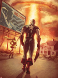 Captain America: Patriot No.4 Cover: Captain America Walking Plastic Sign by Mitchell Breitweiser
