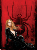 Daredevil No.63 Cover: Black Widow Plastic Sign by Alex Maleev