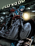 Captain America: Forever Allies No.2: Captain America Riding Plastic Sign by Marco Santucci